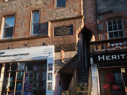 Robert Burns First Lodging in Edinburgh
