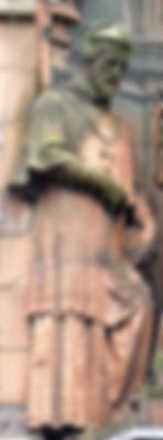 statue of Bishop John Lesley scottish national portrait gallery queen street edinburgh