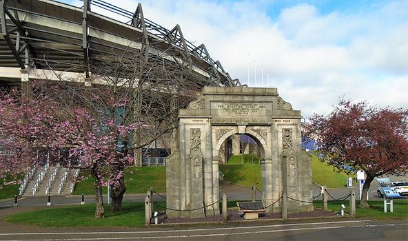 Rugby Memorial War Arch Murrayfield Stad