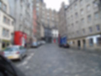 West Bow from Grassmarket Edinburgh