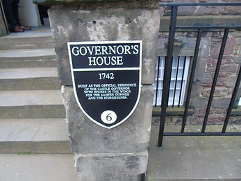 Governor's House Edinburgh Castle Plaque