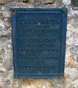 Burns Family Plaque Bolton Parish Church