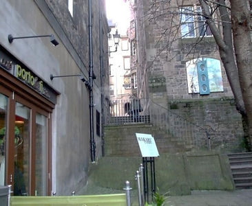 Steps from the Mound to Makars' Court and Writer's Museum