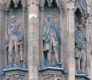 statues of Sir Ralph Abercrombie, David Hume, Adam Smith scottish national portrait gallery queen street edinburgh