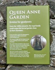 Stirling Castle Queen Anne Garden Plaque