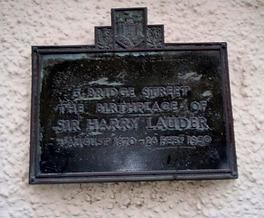 Harry Lauder Birthplace plaque Edinburgh