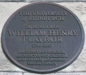 Medallion Edinburgh University Old College William H Playfair