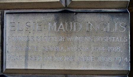 Elsie Maud Inglis  Plaque Walker Street