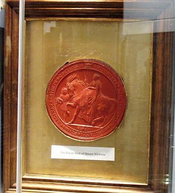 Queen Victoria's Seal Greyfriars Museum.