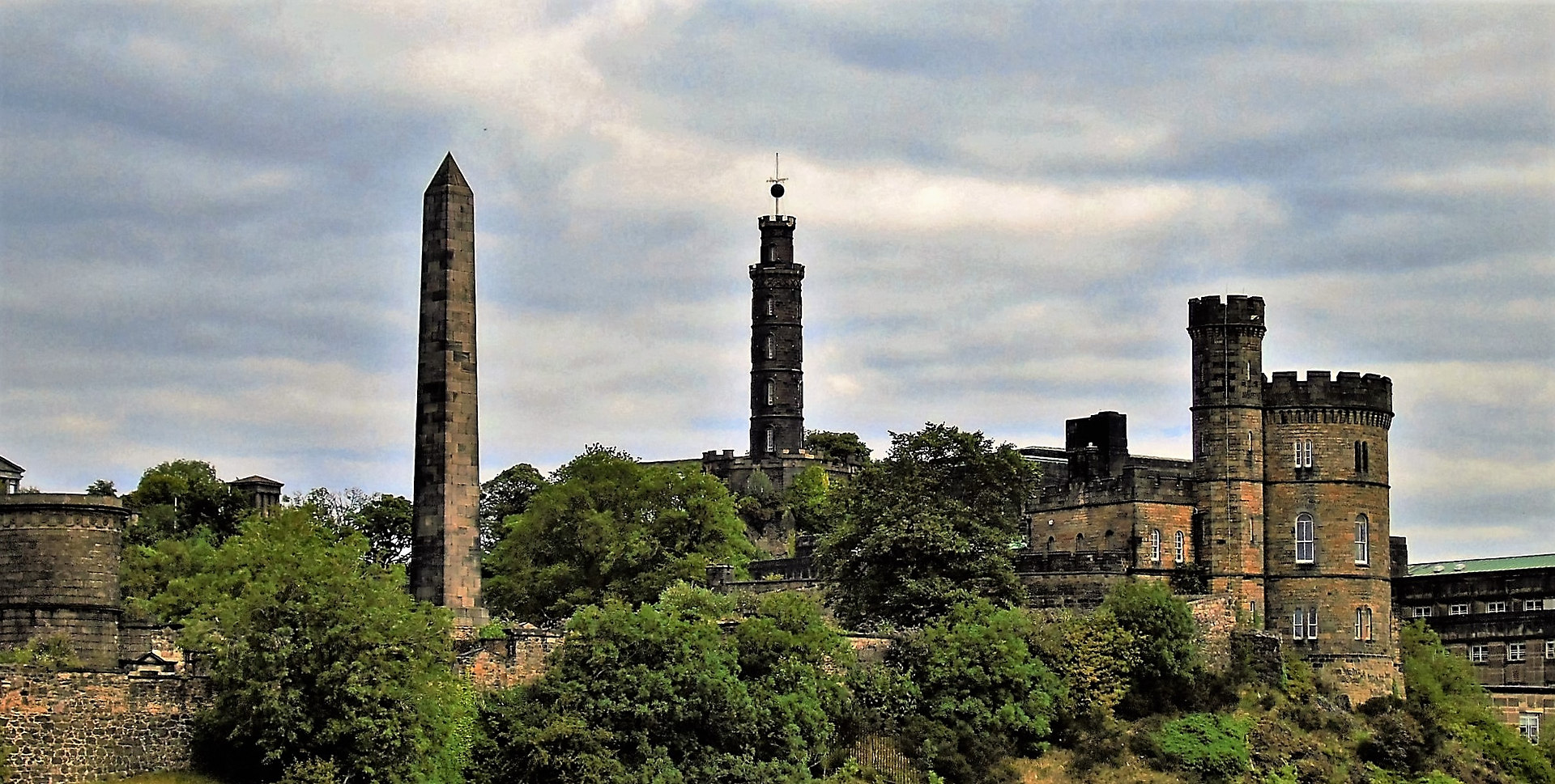 Calton Hill and the Time Ball