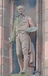 statues of Sir Henry Raeburn and Viscount Stair scottish national portrait gallery queen street edinburgh