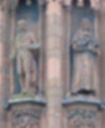statues of Sir Henry Raeburn and Viscount Stair scottish national portrait gallery queen street edinburgh