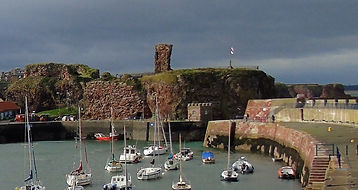 Victoria Harbour and Dunbar Castle