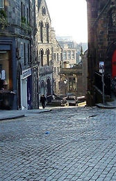 Old West Bow now Upper Bow looking down from Castlehill Edinburgh