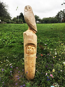 owl  Sculpture in Morningside Park Edinb