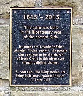 Liberton Kirk Cairn Plaque Edinburgh