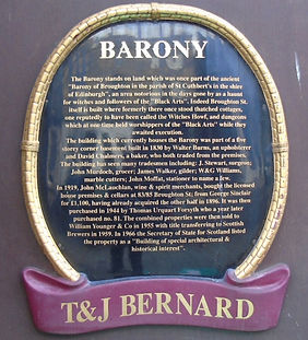Barony Bar Plaque Broughton Edinburgh