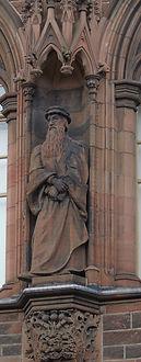statue of John Knox scottish national portrait gallery queen street edinburgh