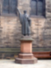 john knox statue New College Mound Place