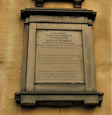 Allan Ramsay Poet Greyfriars Edinburgh