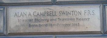 Alan Swinton Plaque. Edinburgh