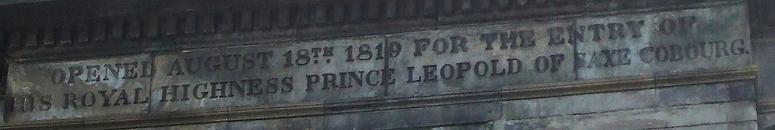 The inscription on the regaent bridge edinburgh
