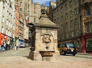 West Bow Wellhead at foot of West Bow at Grassmarket Edinburgh