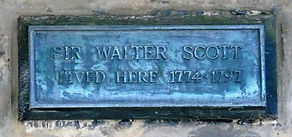 Walter Scott Plaque George Square Edinburgh