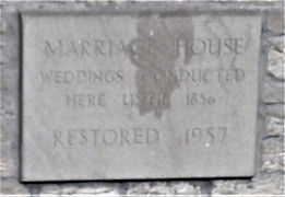 Marriage House Plaque Coldstream Scottis