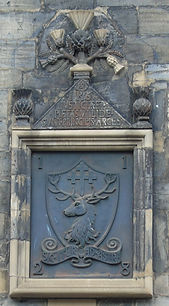 Canongate Coat of Arms with inscription