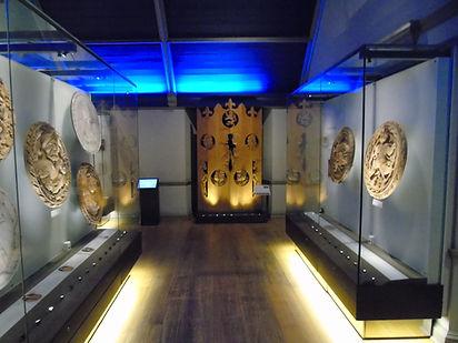 James V wooden ceiling portraits