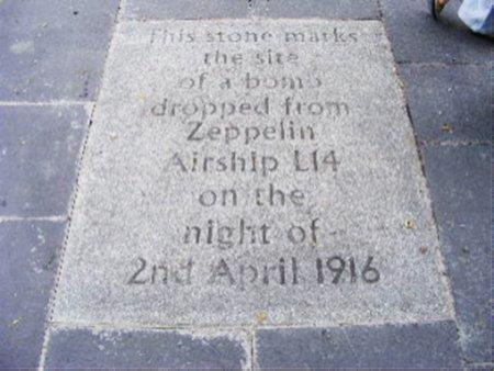 zepplin slab World War 2 bombing Grassmarket
