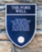 The Fore Well Plaque Edinburgh Castle