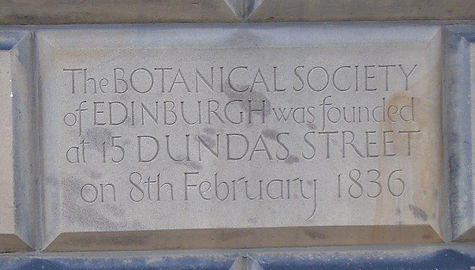 Dundas Street Botanics Society Plaque.