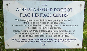 Athelstaneford Flag Centre Information Board