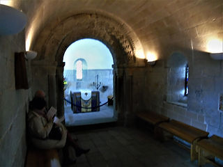 St Margaret's Chapel interior Edinburgh Castle