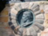 Medallion of Robert Luois Stevenson