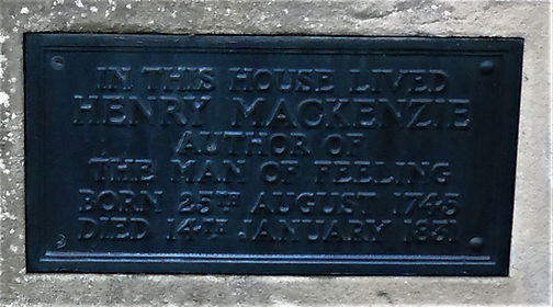 Henry MacKenzie Plaque on Cottage Colinton Village Edinburgh
