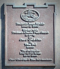 Professor Charles Piazzi Smyth Plaque