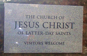 Church Plaque Welcome JESUS CHRIST OF THE LATTER - DAY SAINTS