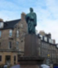 Statue of Thomas Chalmers in George Street Edinburgh