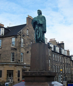 Statue of Thomas Chalmers in George Street Edinburgh
