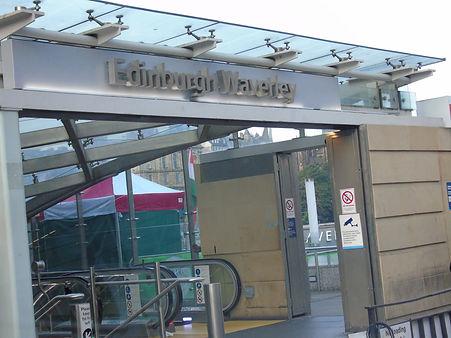 Edinburgh Waverley Rail Station Princes Street Entrance
