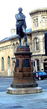 Robert Burns Statue Leith