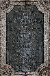 Dr Hugh Dewar Memorial Plaque Portobello Edinburgh