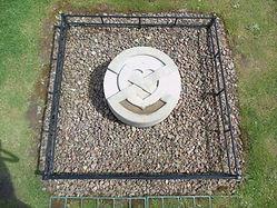 Heart Stone Melrose Abbey Scottish Borde