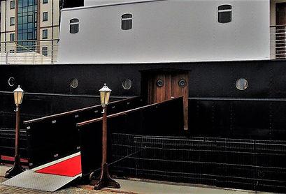Fingal  Boarding ramp Leith Shore Edinbu