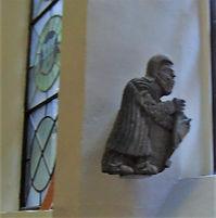 Poor man stone carving Madalen Chapel Cowgate Edinburgh
