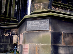 Plaque on Scott Monument in Princes Street Edinburgh