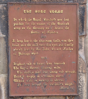 The Bore Stone Morningside Edinburgh Plaque
